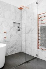 70+ Tiles Ideas for Small Bathroom - Get more Ideas in our gallery | #smallbathroom #bathroomdecoration #bathroomideas #bathroomtiles #bathroomdecor #homedecor (40)