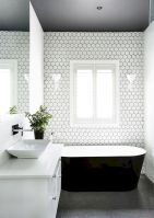 70+ Tiles Ideas for Small Bathroom - Get more Ideas in our gallery | #smallbathroom #bathroomdecoration #bathroomideas #bathroomtiles #bathroomdecor #homedecor (55)