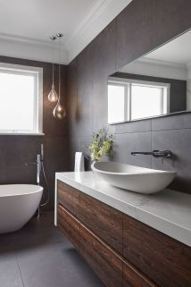 70+ Tiles Ideas for Small Bathroom - Get more Ideas in our gallery | #smallbathroom #bathroomdecoration #bathroomideas #bathroomtiles #bathroomdecor #homedecor (69)