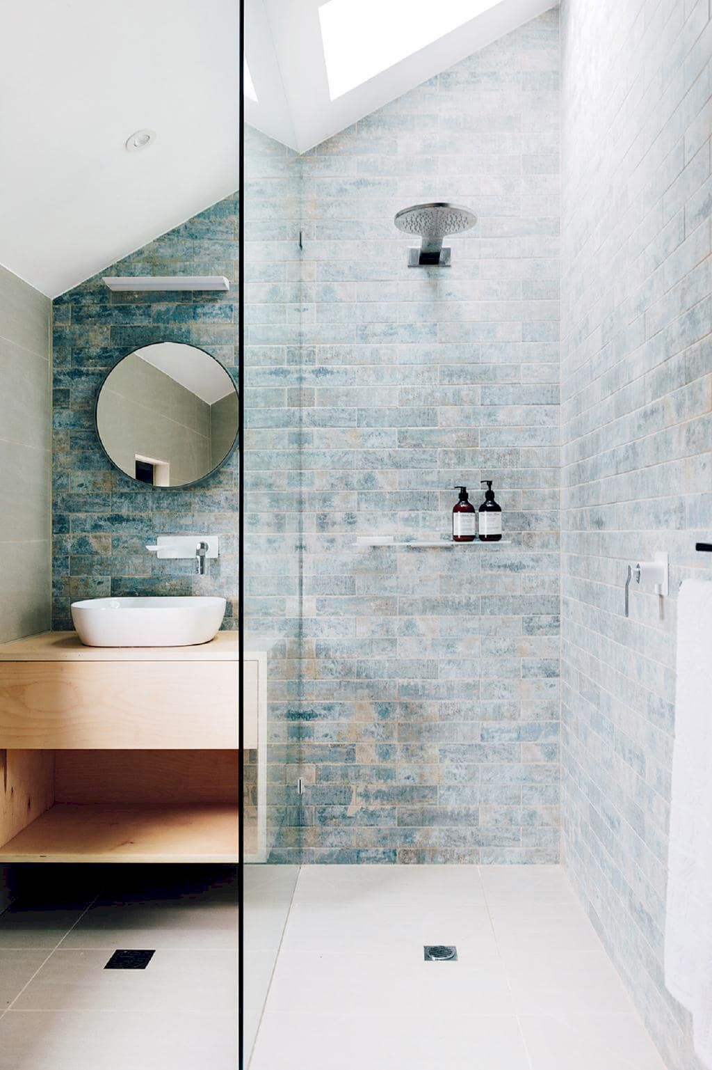70+ Tiles Ideas for Small Bathroom - Get more Ideas in our gallery | #smallbathroom #bathroomdecoration #bathroomideas #bathroomtiles #bathroomdecor #homedecor (82)