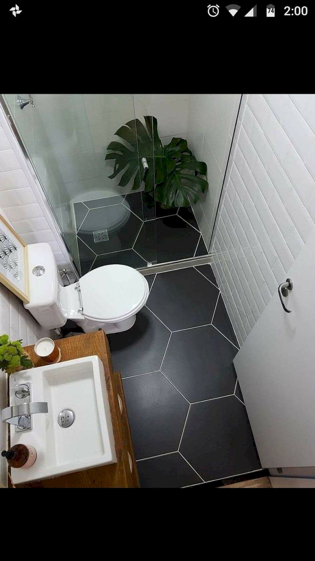70+ Tiles Ideas for Small Bathroom - Get more Ideas in our gallery | #smallbathroom #bathroomdecoration #bathroomideas #bathroomtiles #bathroomdecor #homedecor (84)