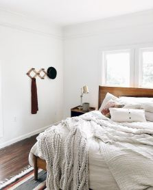 Simple tips for low budget bedroom makeover with classy curtain design and inspiring reading spot. Bedroom Makeover Idea Part 25