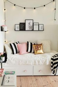 Simple tips for low budget bedroom makeover with classy curtain design and inspiring reading spot. Bedroom Makeover Idea Part 52