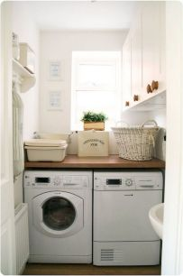 55 Best Small Laundry Room Photo Storage Ideas (21)