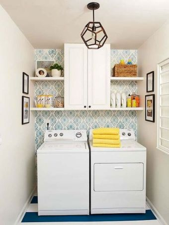55 Best Small Laundry Room Photo Storage Ideas (40)