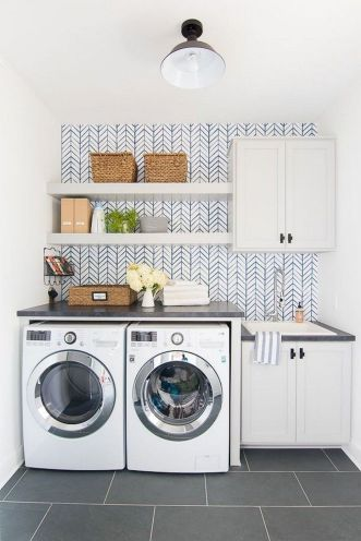 55 Best Small Laundry Room Photo Storage Ideas (55)