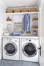 55 Best Small Laundry Room Photo Storage Ideas (6)