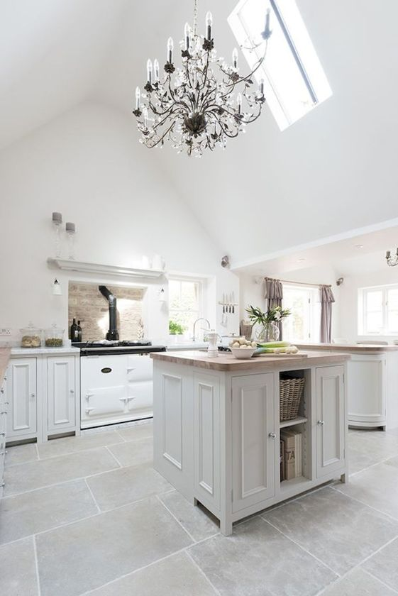 Bright Kitchen with White Kitchen Concept that Never Look Boring Part 9