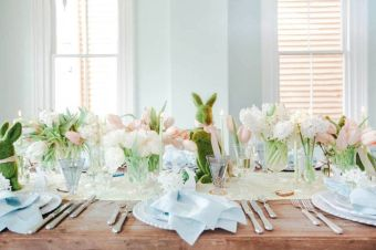 Charming Easter centerpieces and springy table decor ideas to get your Easter party hopping Part 17