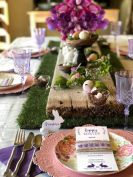 Charming Easter centerpieces and springy table decor ideas to get your Easter party hopping Part 28