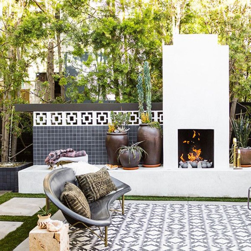 Classic mainstay of an outdoor space with the fire pit many of us would spend fond evenings relaxing around the fire Part 26