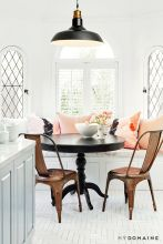 Eyecatching light fixtures above the modernclassic dining rooms Part 19