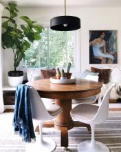 Eyecatching light fixtures above the modernclassic dining rooms Part 20