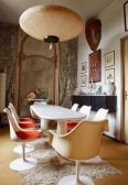 Eyecatching light fixtures above the modernclassic dining rooms Part 25