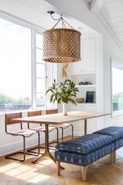 Eyecatching light fixtures above the modernclassic dining rooms Part 28