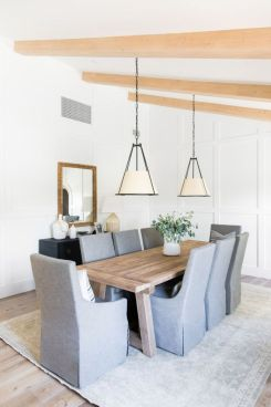 Eyecatching light fixtures above the modernclassic dining rooms Part 29