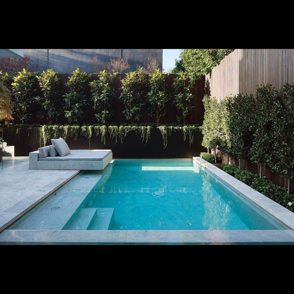 Inground tiny swimming pool in a small backyard that pick the best shape Part 7