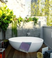 Outdoor showers and bath perfect for beach homes cabins and tropical climates Part 4