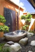 Outdoor showers and bath perfect for beach homes cabins and tropical climates Part 6