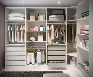 Small Space Closet Designs with Neat and Effective Organization Tricks (20)