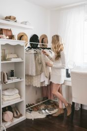Small Space Closet Designs with Neat and Effective Organization Tricks (22)