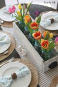 Spring and Easter tablesetting ideas and tablescapes brunch mothers day and springtime table setting ideas Part 16