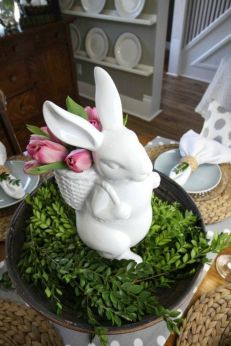 Spring and Easter tablesetting ideas and tablescapes brunch mothers day and springtime table setting ideas Part 21