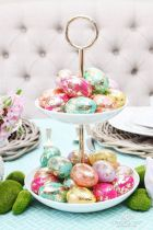 Spring and Easter tablesetting ideas and tablescapes brunch mothers day and springtime table setting ideas Part 5