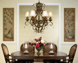 Traditional Chandelier Designs for Dining Rooms that Add Interiors Vintage Charms Part 27