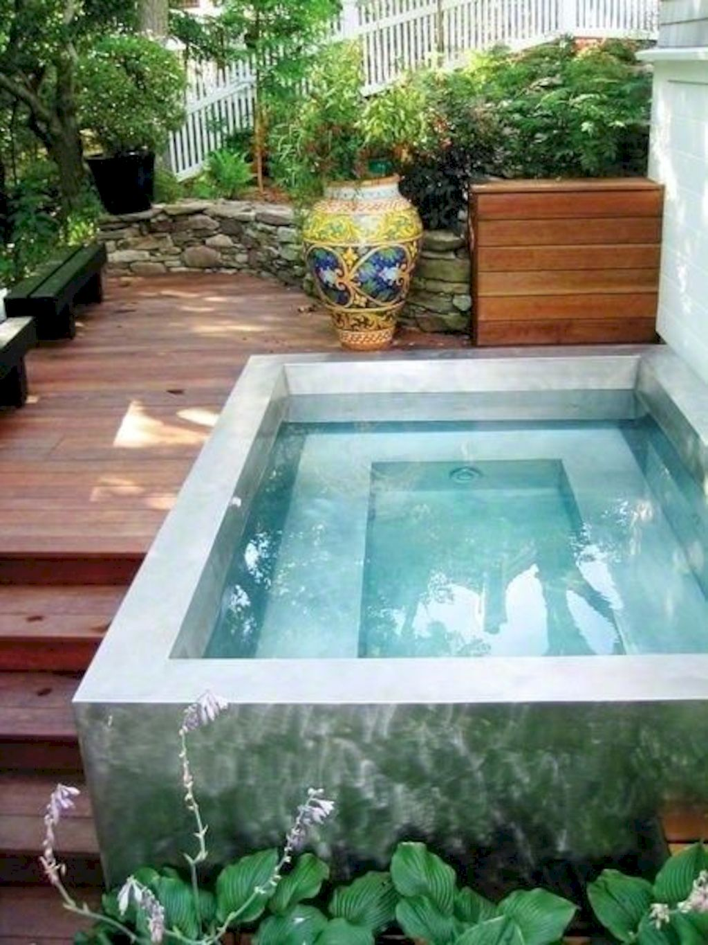 Affordable rectangular pool designs built in small areas that give a lavish look getting along with beautiful landscape (27)