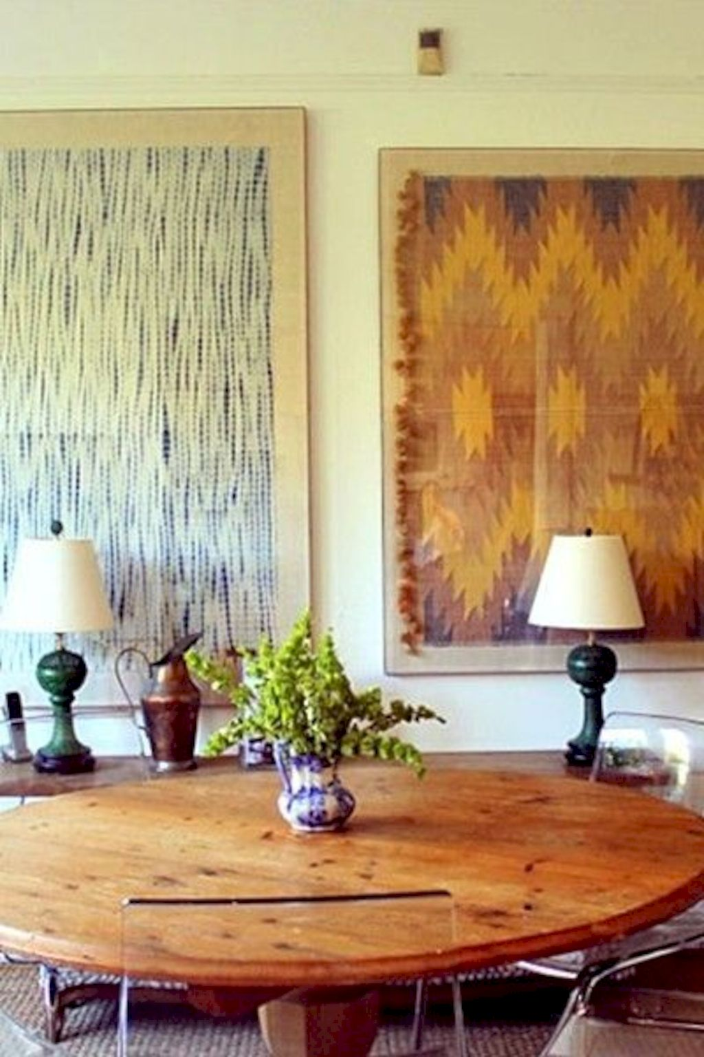 Artistic textile decorations with artsy pattern and print designs amazingly enhance wall display with strong eclectic home style Image 12