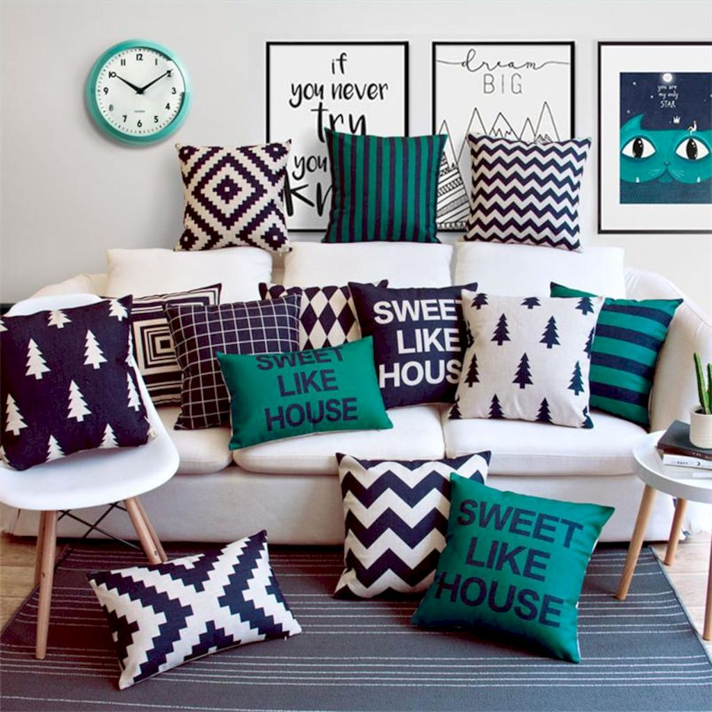 Artistic textile decorations with artsy pattern and print designs amazingly enhance wall display with strong eclectic home style Image 17