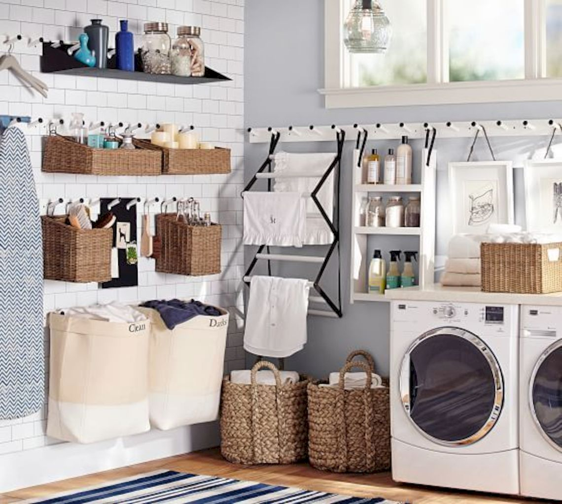 Cheap and simple accessories for your laundry room that will give extra functions improving effective and efficient workflow Image 30