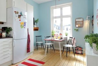 Chic decoration with lots of nautical accents giving a refreshing coastal cottage feel to modern kitchens Image 3