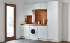 Classy laundry room update with first class finishing to make a functional room that looks elegant and stylish Image 11