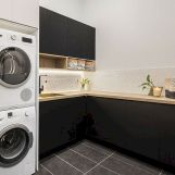 Classy laundry room update with first class finishing to make a functional room that looks elegant and stylish Image 24