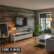 Clever rustic touch exploiting wood pallets wall accent that enhances contemporary home update and also effective in twisting decoration style Image 5