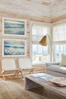 Coastal cottage living area with pure bright schemes outlooking vast sea view giving a complete beach style home Image 18