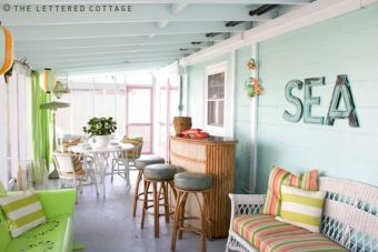 Coastal cottage living area with pure bright schemes outlooking vast sea view giving a complete beach style home Image 5