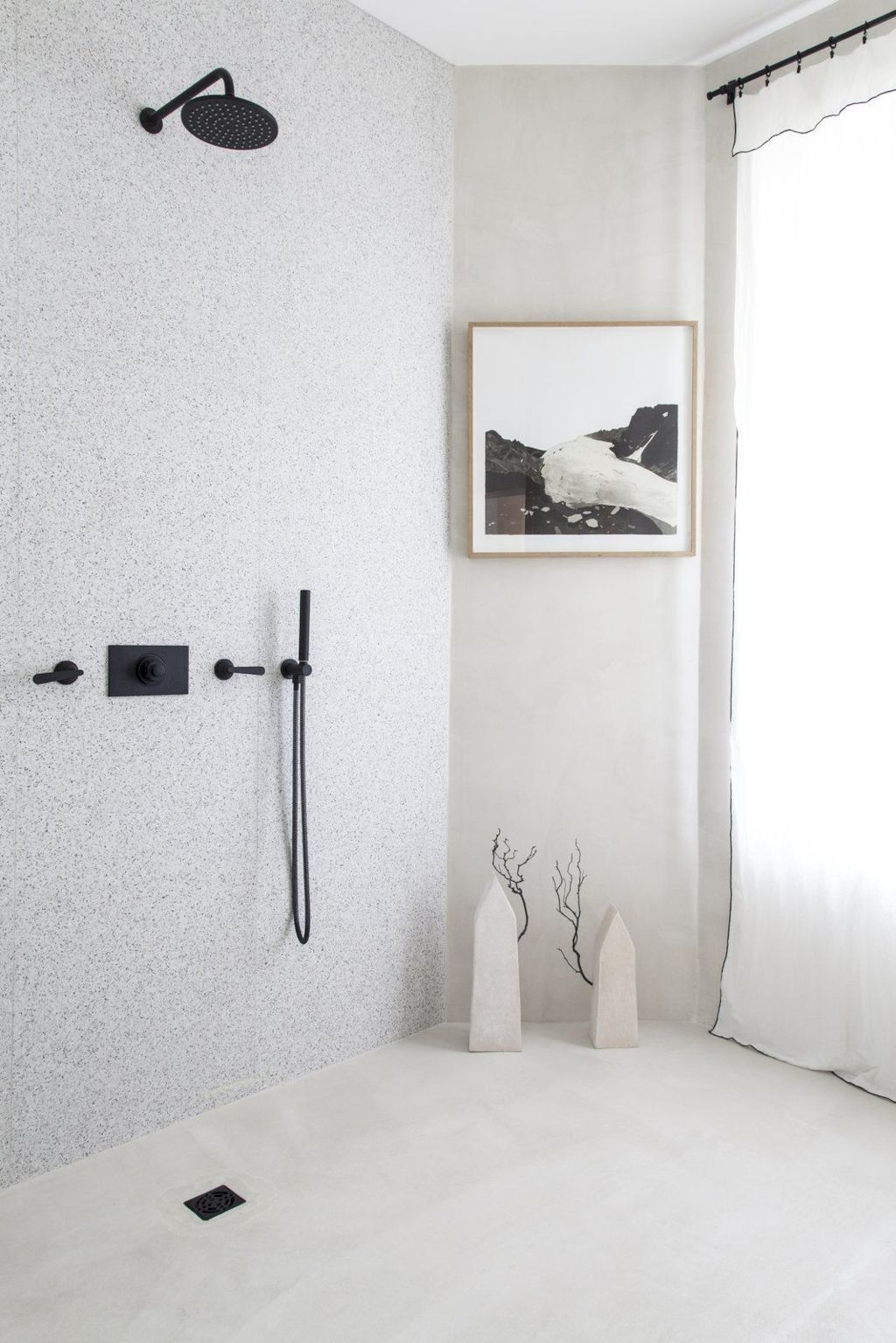 Creative bathroom updates mixing modern trend with simple 60s terrazzo style giving a brilliant contemporary balance Image 13