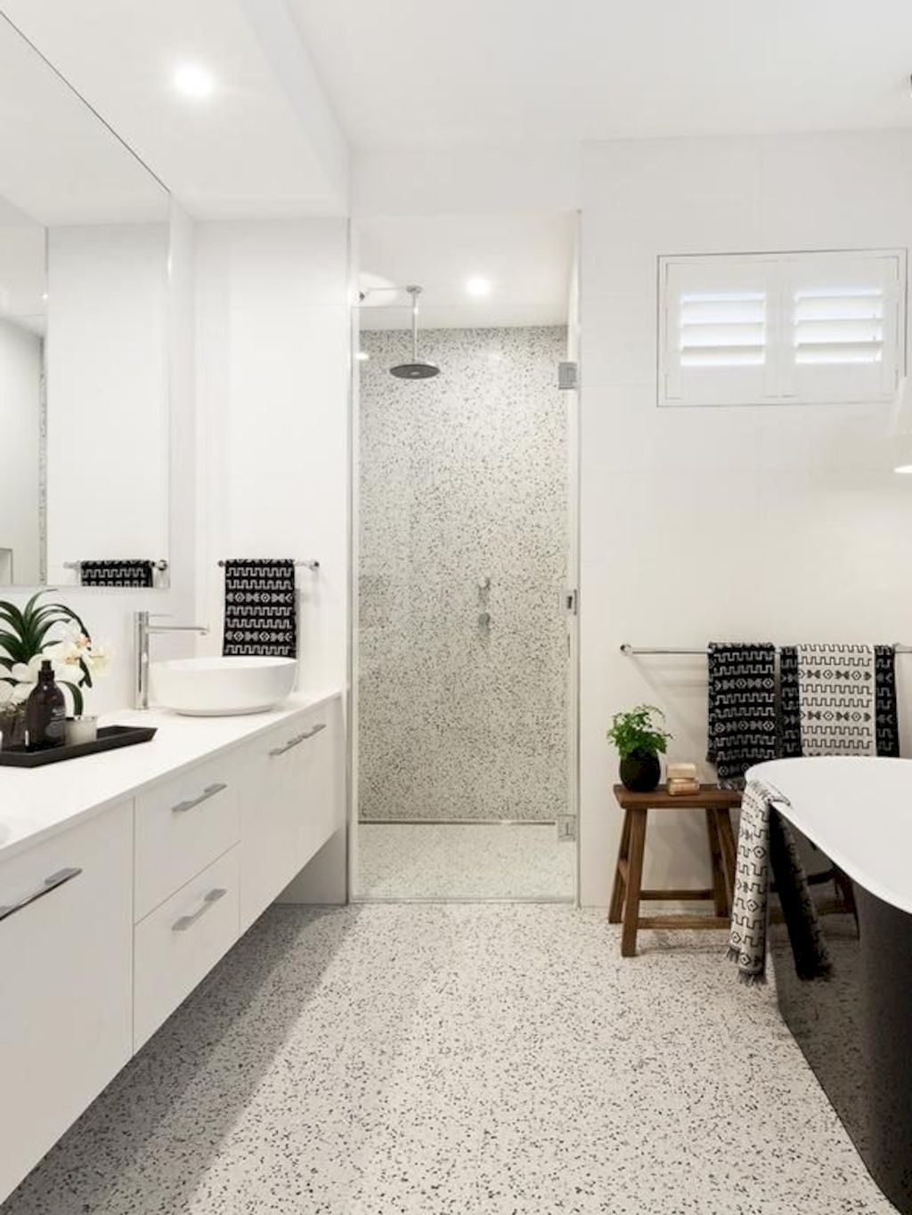 Creative bathroom updates mixing modern trend with simple 60s terrazzo style giving a brilliant contemporary balance Image 23