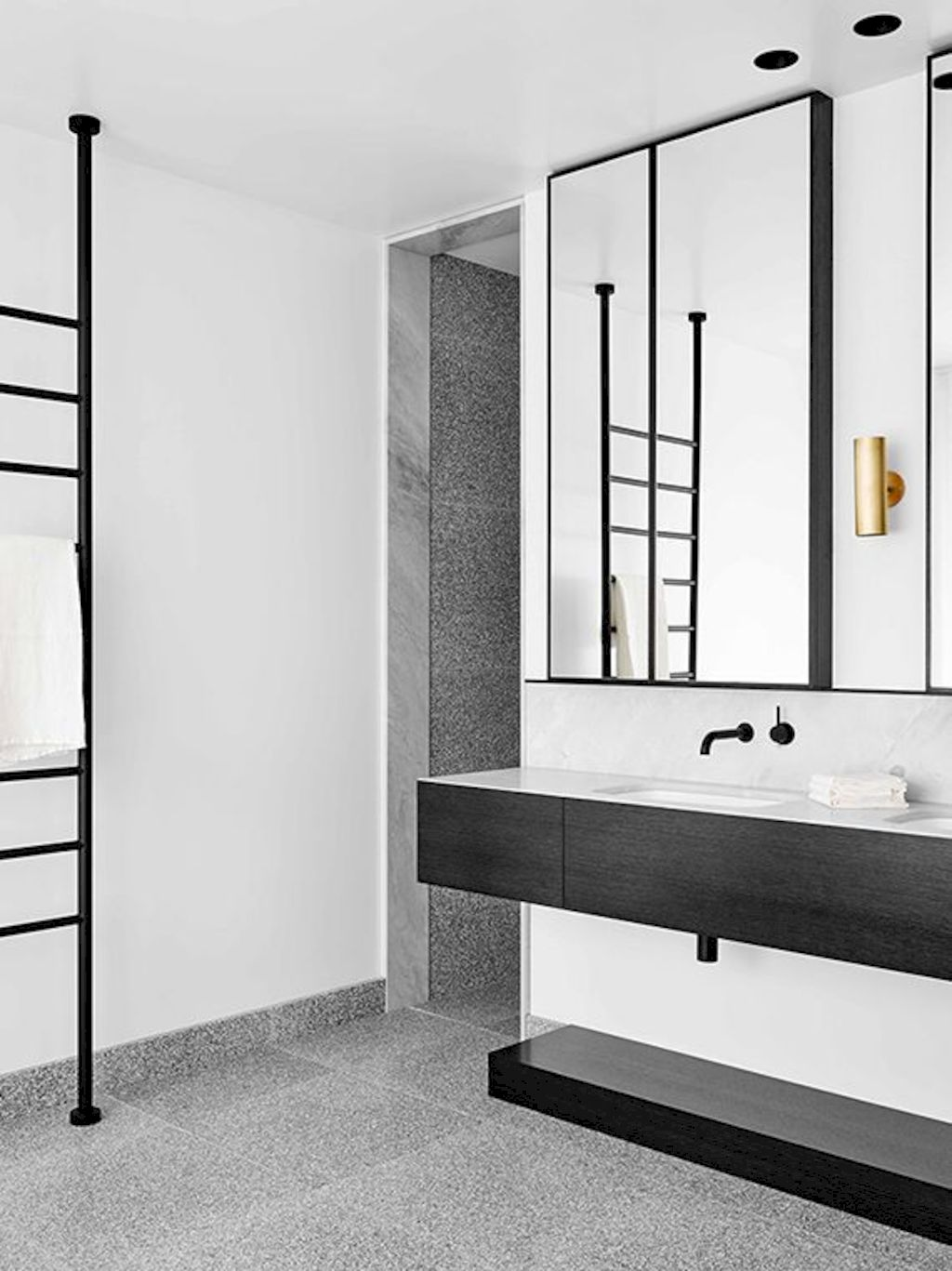 Creative bathroom updates mixing modern trend with simple 60s terrazzo style giving a brilliant contemporary balance Image 25
