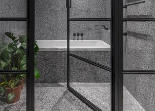 Creative bathroom updates mixing modern trend with simple 60s terrazzo style giving a brilliant contemporary balance Image 4