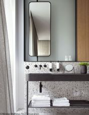 Creative bathroom updates mixing modern trend with simple 60s terrazzo style giving a brilliant contemporary balance Image 5