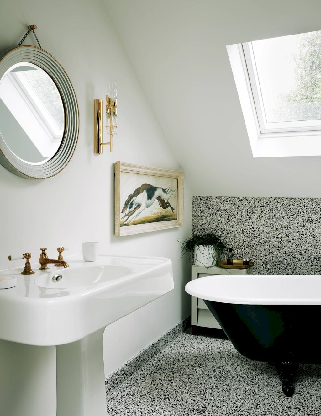 Creative bathroom updates mixing modern trend with simple 60s terrazzo style giving a brilliant contemporary balance Image 9