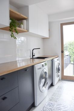 Easy tricks to make a Scandinavian style laundry room which will give a perfect refreshment in simple and sleek designs Image 26