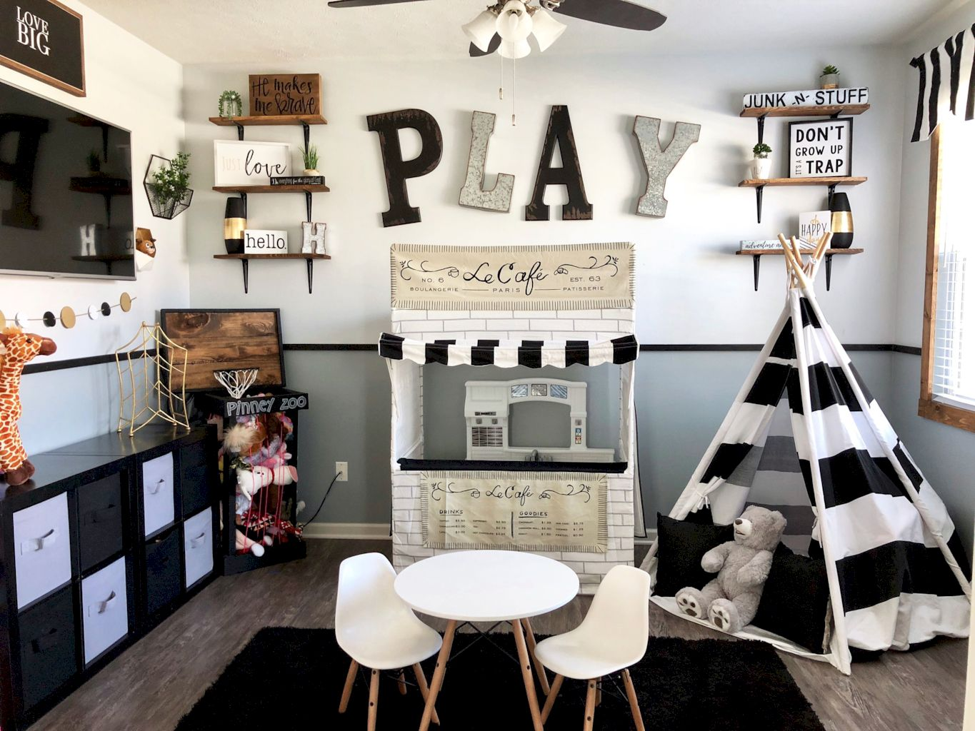 Fun and stylish play spaces for children looking best with modern and simple concepts that fit in any small space Image 12