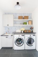 Making a simple laundry room update to maximize its function and look together with cheap accessories and simple layout designs Image 14