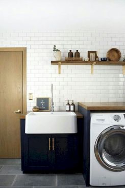 Making a simple laundry room update to maximize its function and look together with cheap accessories and simple layout designs Image 20