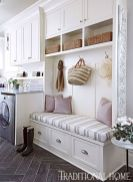 Making a simple laundry room update to maximize its function and look together with cheap accessories and simple layout designs Image 25